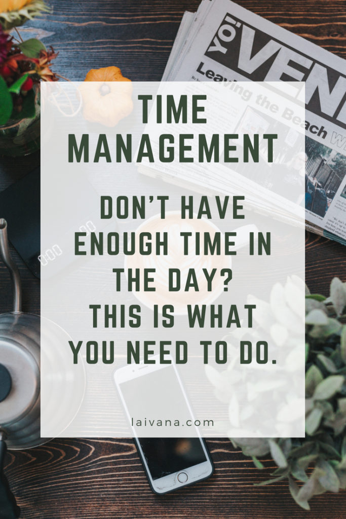 make time for everything