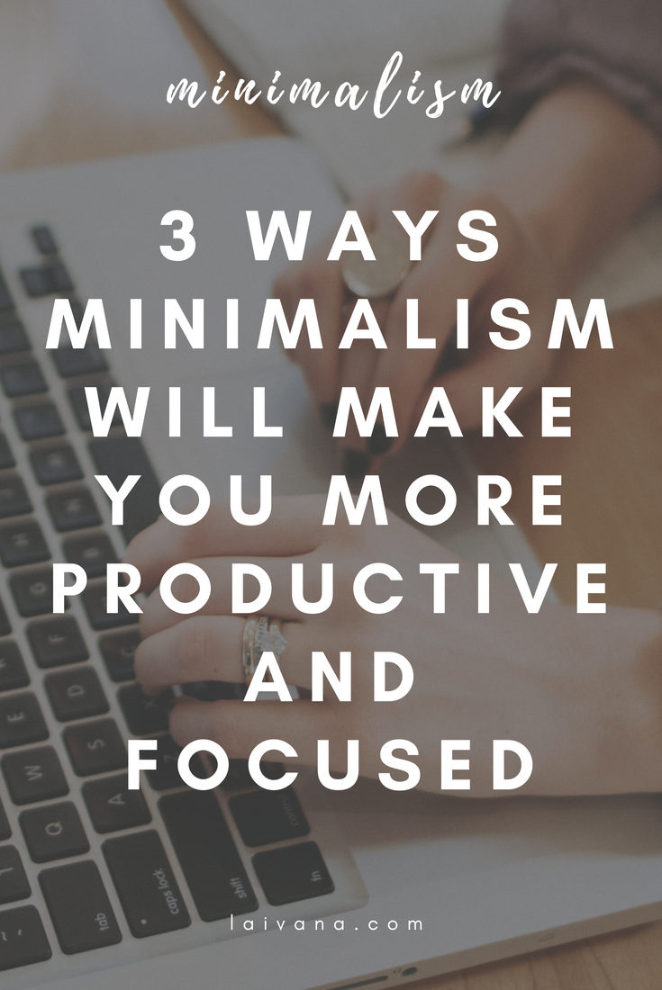 minimalism and productivity